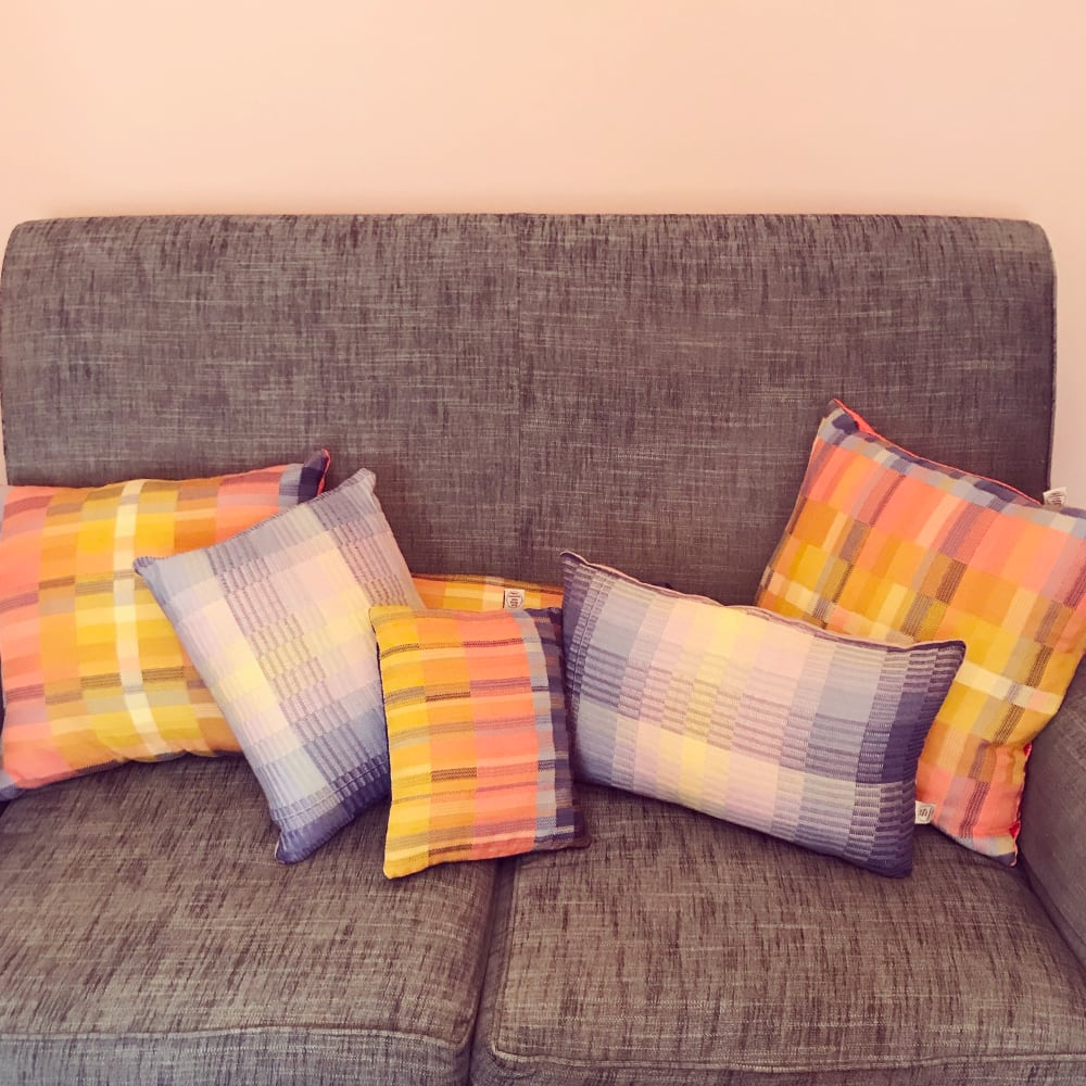 cushions on sofa